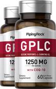 GPLC Glycine Propionyl-L-Carnitine HCl with CoQ10 2 Bottles x 60 Capsules