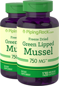 Green Lipped Mussel Freeze Dried from New Zealand, 750 mg, 2 x 120 Capsules