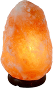 Himalayan Salt Lamp with Wood Base and Dimmer