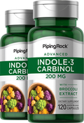 Indole-3-Carbinol Supplement 200 mg with Resveratrol 2 x 120 Capsules