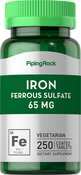 Iron Ferrous Sulfate 65mg 250 Coated Tablets