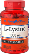 L-Lysine 1000mg 100 Coated Caplets