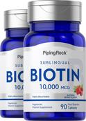 Biotin 10,000mcg  2 Bottles 90 Fast Dissolve Tablets