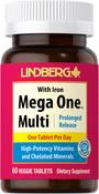 Multivitaminas Mega One con hierro 60 Tabletas vegetarianas