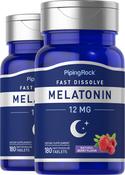Melatonin 12 mg Fast Dissolve 180 Tablets x 2 Bottles