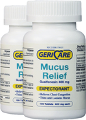 Mucus Relief (Expectorant) Guaifenesin 400mg 200 Tablets