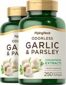 Odorless Garlic & Parsley, 250 Softgels x 2 Bottles