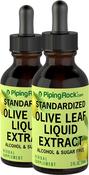 Olive Leaf Liquid Extract Alcohol Free 2 Dropper Bottles x 2 fl oz (59 mL)