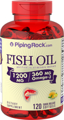 Omega-3 Fish Oil 1200 mg Lemon Flavor 120 Softgels