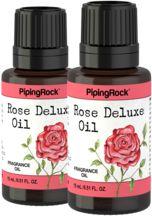 Rose Deluxe Fragrance Oil 2 Dropper Bottles x 1/2 oz (15 ml)