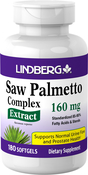 Saw Palmetto Standardized Extract, 160 mg, 180 Softgels