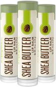 Shea Butter Lip Balm 3 Pack 0.15 oz (4 g) Tubes