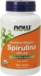 Spirulina, 500 mg, 200 Tablets
