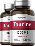 Taurine 1000 mg 2 Bottles x 120 Coated Caplets