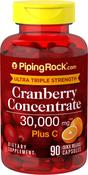 Canneberge (Cranberry) Ultra Triple Force Plus C, 30000mcg (par dose) 90 Gélules à libération rapide