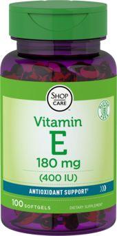 Vitamine E 400 IU 100 Capsules