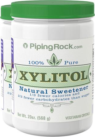 Xylitol 100% Pure  Sweetener 2 Bottles x 20 oz (568 g)
