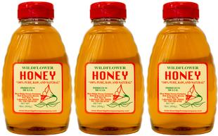 Miel brut 100% fleurs sauvages 1 lb (454 g) Bouteilles