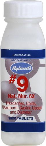 N. 9 Natrum muriaticum 6X Cell Salt, per cefalea, indigestione 500 Compresse