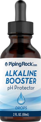 Gotas de proteção de incremento alcalino de pH 2 fl oz (59 mL) Frasco conta-gotas