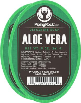 Aloe Vera Glycerine Soap 2 Bars x 5 oz (142 g)