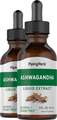 Ashwagandha Liquid Extract 2 Dropper Bottles x 2 fl oz (59 mL)