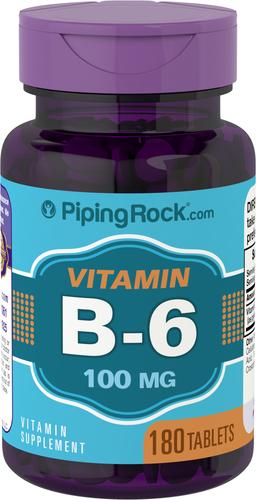 Vitamin B-6 100mg (Pyridoxine) 180 Tablets