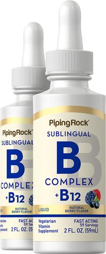 B12 líquida com complexo B 2 fl oz (59 mL) Frasco conta-gotas