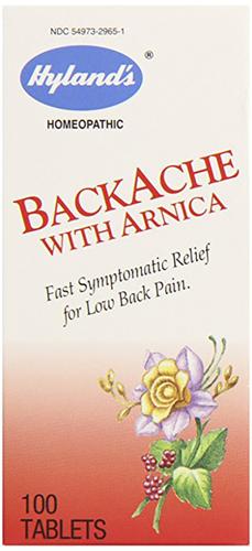 背中の痛みとアルニカ 100 錠剤