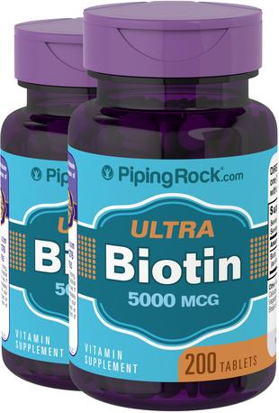 Biotin Supplement 5000 mcg (5 mg) 200 Tablets