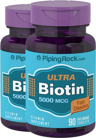 Biotin hurtigløselige tabletter 90 Hurtigoppløselige tabletter