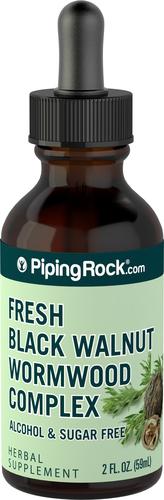 黒クルミ ワームウッド (ヨモギ) 複合体リキッド エキス 2 fl oz (59 mL) スポイト ボトル