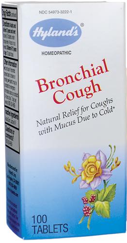 支氣管咳嗽順勢療法配方用於感冒引起的咳嗽(有粘液) 100 錠劑