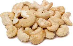 Cashews Raw Whole Unsalted 1 lb (454 g) Bag