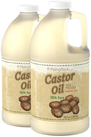 キャスター オイル (ひまし油) (圧搾法) ヘキサン不使用 64 fl oz (1.89 L) ボトル