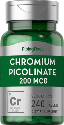 Chromium Picolinate 200 mcg 240 Tablets