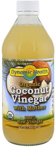 Ocet kokosowy z matką (Organiczna) 16 fl oz (473 mL) Butelka