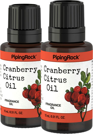 Cranberry Citrus Fragrance Oil 2 Bottles x 1/2 oz (15 ml)