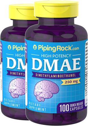 DMAE 250mg 2 Bottles x 100 Capsules Benefits