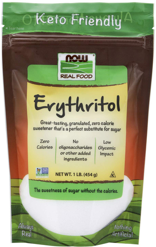 Erytrytol w proszku 2.5 lbs (1.13 kg) Torebka