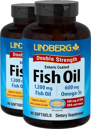 Oleje rybne Podwójna siła działania (powłoka kwasoodporna) 90 Tabletki żelowe