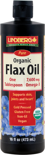 Olej lniany (Organiczna) 16 fl oz (473 mL) Butelka