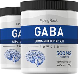 GABA w proszku (Kwas γ-aminomasłowy) 6 oz (170 g) Butelki