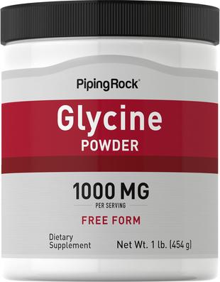 Buy Glycine Powder (100% Pure) 1 lb. (454 g) Bottle