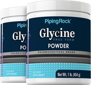 Glycine Powder 100% Pure 2 Bottles x 1 lb.(454 g)