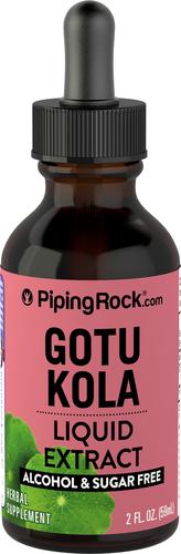 Gotu Kola kivonat (folyadék), alkoholmentes 2 fl oz (59 mL) Cseppentőpalack