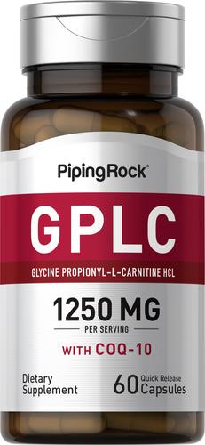 GPLC GlycoCarn Propionyl-L-Carnitine HCl with CoQ10 60 Capsules