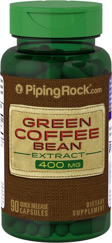 Green Coffee Bean 400 mg 50% Chlorogenic Acid 90 Capsules