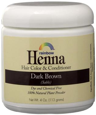 Corante para o cabelo e condicionador castanho escuro Henna persa (Sable) 4 oz (113 g) Boião