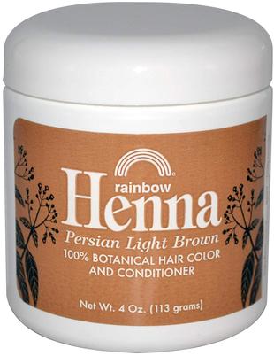 Perzijska svijetlo smeđa kana boja za kosu i regenerator 4 oz (113 g) Staklenka